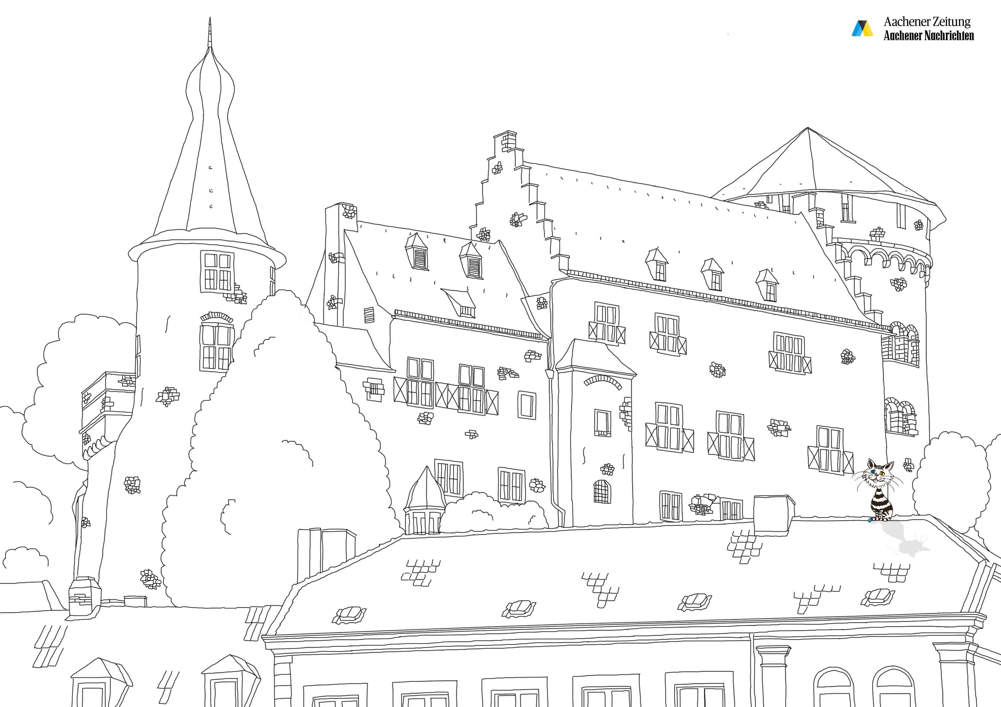Malbild von Burg Stolberg